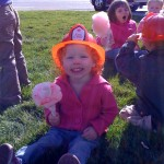 She is by far the cutest firefighter I've ever seen.