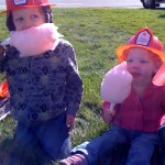 fire fighters enjoying a snack